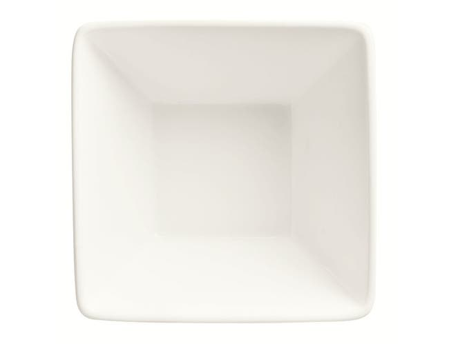 World Tableware Slate Collection Porcelain Ultra Bright White Square Bowl, 10.5 Ounce -- 36 per case.