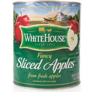 Commodity Canned Fruit and Vegetables Whitehouse Sliced Apple in Syrup, Number 10 Can -- 6 per case
