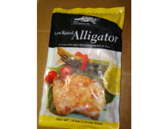 Frozen Seafood Farm Raised Alligator Meat Pieces, 1 Pound -- 12 per case.