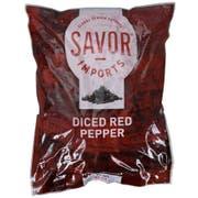 Savor Imports 3/8 Inch Diced Red Pepper, 2 Pound -- 6 per case