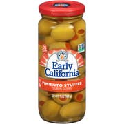 Early California Pimento Stuffed Queen Olives, 7 Ounce -- 12 per case.