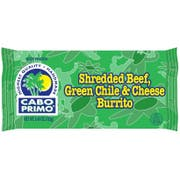 Cabo Primo Shredded Beef Green Chile and Cheese Burrito, 5.4 Ounce -- 80 per case.