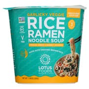 Lotus Foods Garlic and Vegetable Rice Ramen Noodle Soup, 2.05 Ounce -- 6 per case