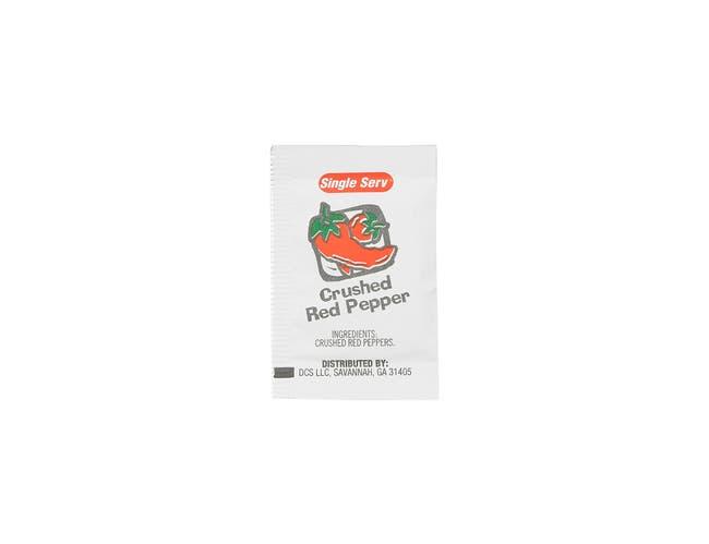 Single Serv Crushed Red Pepper Packets, 1 Gram -- 200 per case.