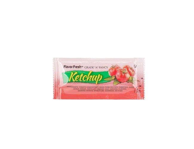 Flavor Fresh Low Sodium Ketchup Pouch, 9 Gram -- 500 per case.