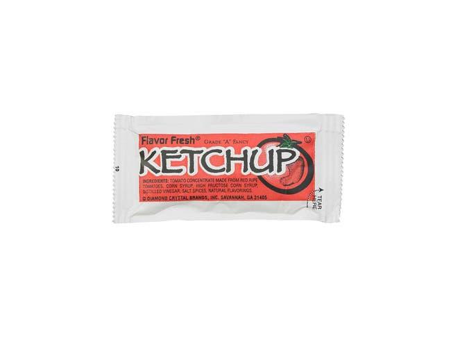 Flavor Fresh Ketchup Pouch, 7 Gram -- 500 per case.