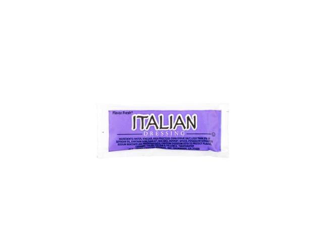Flavor Fresh Low Sodium Italian Dressing Pouch, 9 Gram -- 200 per case.