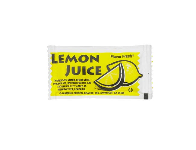 Flavor Fresh Lemon Juice Pouch, 4 Gram -- 200 per case.