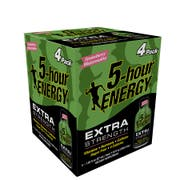5 Hour Energy Strawberry Watermelon Extra Strength Shots, 4 count per pack -- 12 per case.