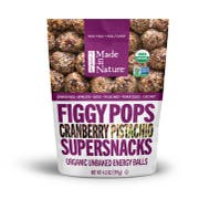 Made in Nature Cranberry Pistachio Fig Pops, 4.2 Ounce -- 6 per case.