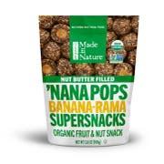 Made in Nature Nana Pops Banana Rama Supersnacks, 3.8 Ounce -- 6 per case