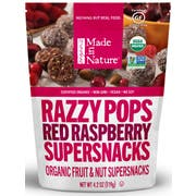 Made in Nature Organic Red Raspberry Razzy Pop, 4.2 Ounce -- 6 per case