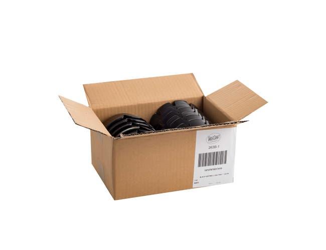 4.25 Deep Black Plastic Ashtray -- 12 per case