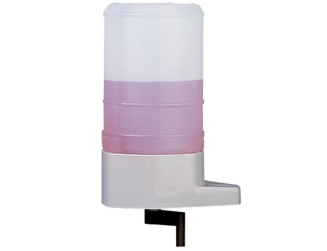 Impact Products Tan Lotion Crank Soap Dispenser, 6 inch Height x 8 1/2 inch Width x 7 1/4 inch Depth -- 6 per case.
