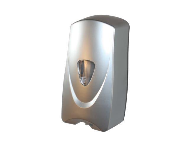 Impact Products Foam-eeze Metallic Bulk Foam Sensor Soap Dispenser, 11 inch Length x 5 1/2 inch Width x 4 1/2 inch Height -- 12 per case.