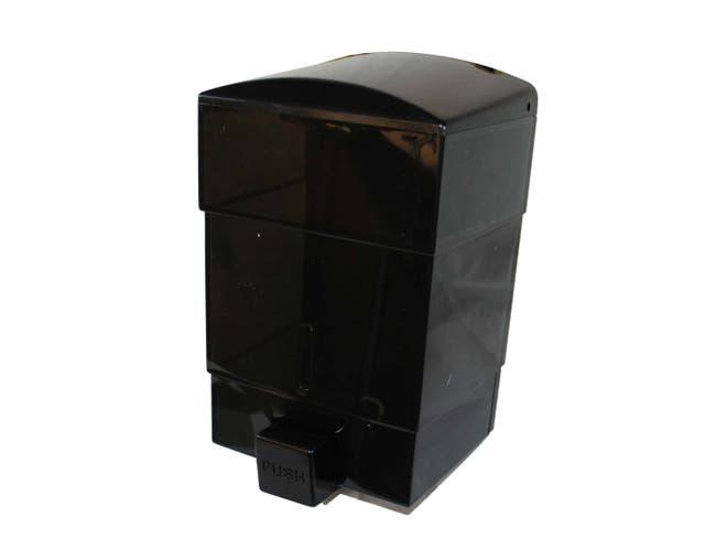 Impact Products Triad Black See Thru Soap Dispenser, 7 1/2 inch Length x 5 inch Width x 4 1/4 inch Height -- 12 per case.