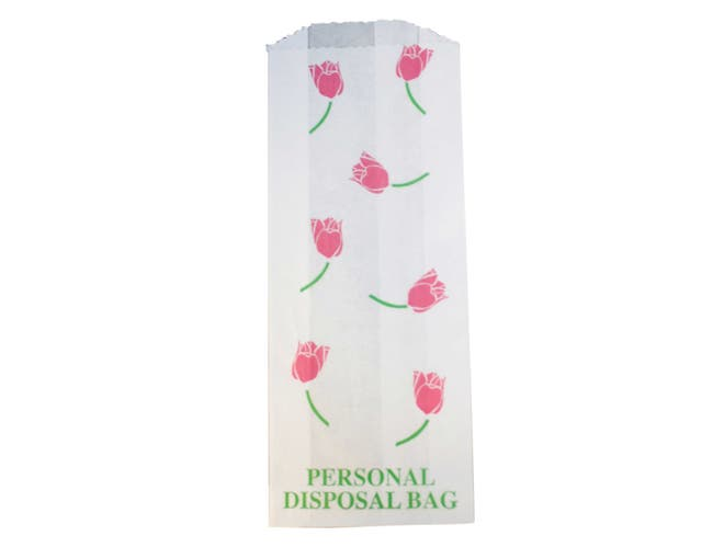 Impact Products White Personal with Print Sanitary Disposal Liner, 3 1/2 inch Width x 8 1/2 inch Height x 1 1/2 inch Depth -- 1 each.