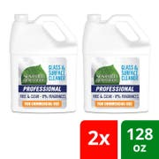 Seventh Generation Pro Glass and Surface Cleaner Refill, Free and Clear, Unscented, 128 Fluid Ounce -- 2 per case