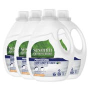 Seventh Generation Pro Liquid Laundry Detergent, Free and Clear, Hypoallergenic, Unfragranced, 100 Fluid Ounce -- 4 per case