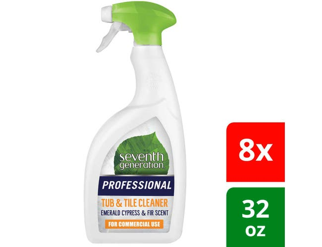 Seventh Generation Professional Tub and Tile Cleaner, Emerald Cypress and Fir Scent, Biodegradable,  32 Fluid Ounce -- 8 per case