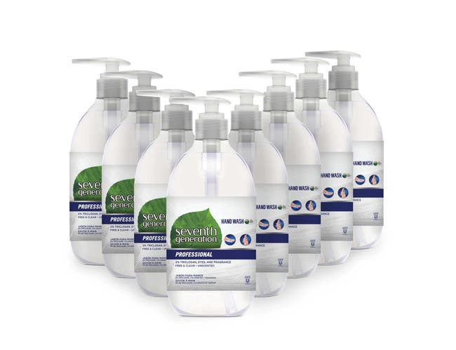 Seventh Generation Professional Liquid Hand Soap Dispenser, Free and Clear, Unscented, 12 Fluid Ounce -- 8 per case