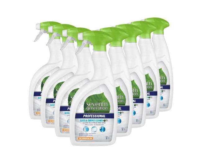 Seventh Generation Professional Glass and Surface Cleaner, Free and Clear, Unscented, 32 Fluid Ounce -- 8 per case