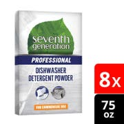 Seventh Generation Pro Dishwasher Detergent Powder,Free and Clear, Unscented,75 Ounce -- 8 per case