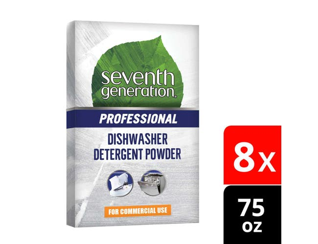 Seventh Generation Professional Dishwasher Detergent Powder, Free and Clear, Unscented,75 Ounce -- 8 per case