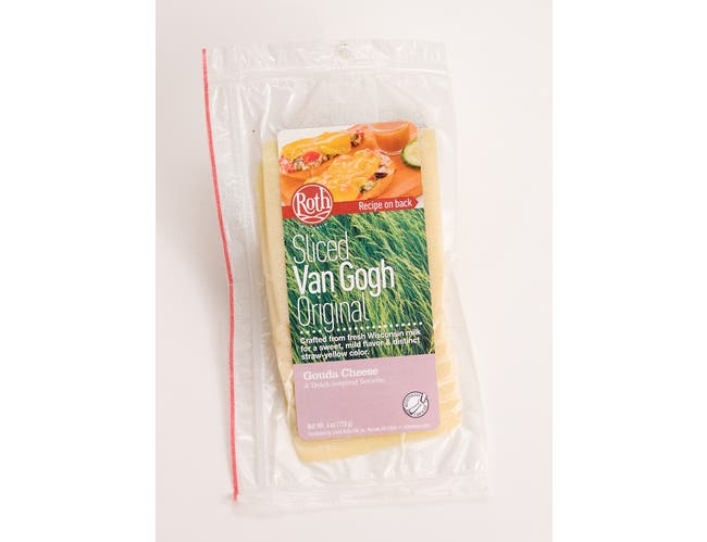 Roth Kase Van Gogh Original Gouda Cheese Slices, 6 Ounce -- 12 per case.