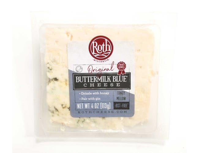 Roth Buttermilk Blue Deli Cuts Blue Cheese, 4 Ounce -- 12 per case.