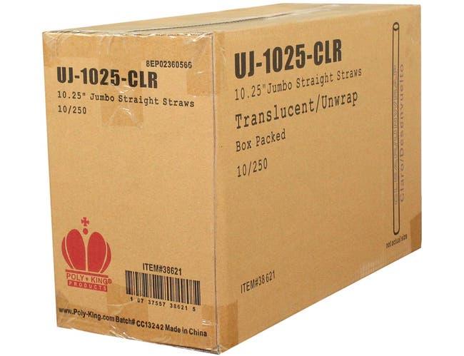 Goldmax Translucent Unwrapped Jumbo Straw, 10.25 inch -- 2500 per case.