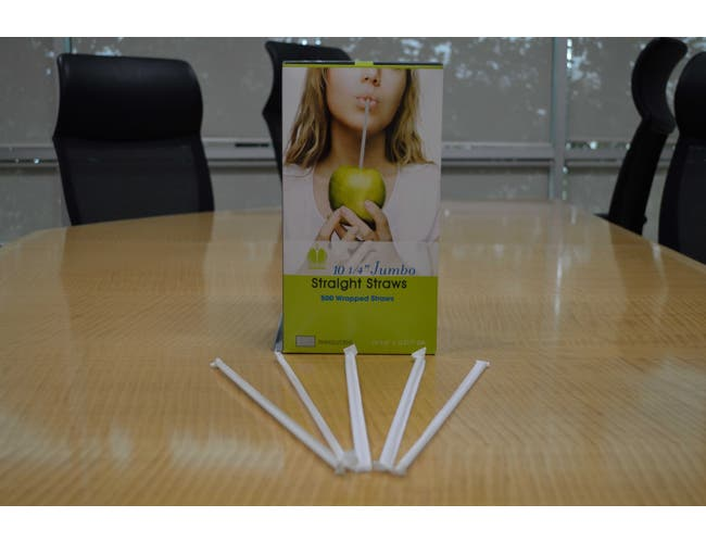 Goldmax Translucent Wrapped Jumbo Straw, 10.25 inch -- 5000 per case.