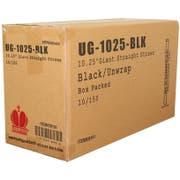 Goldmax Black Unwrapped Giant Straw, 10.25 inch -- 1500 per case.