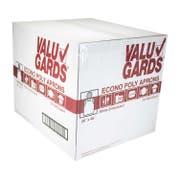 Handgards Valugard White Poly Apron - 100 per pack -- 10 packs per case.