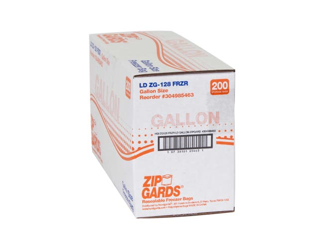 ZipGards Clear Disposable Reclosable Freezer Zipper Bag, 10.5 x 10.5 inch -- 200 per case.