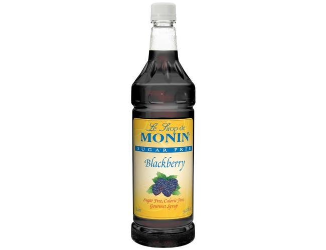 Monin Sugar Free Blackberry Syrup, 1 Liter -- 4 per case.