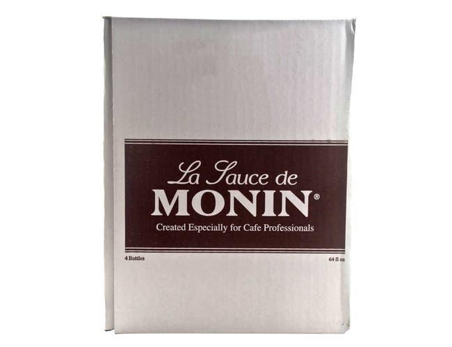Monin Dark Chocolate Sauce, 64 Ounce -- 4 per case.