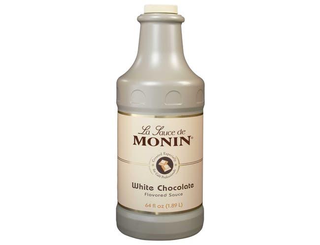 Monin White Chocolate Sauce, 64 Ounce -- 4 per case.