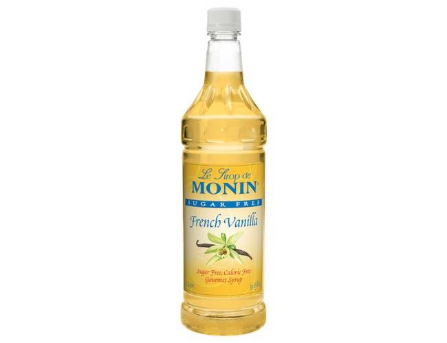 Monin French Vanilla Sugar Free Syrup, 1 Liter -- 4 per case.