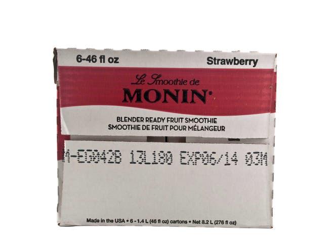 Monin Blender Ready Strawberry Fruit Smoothie Mix, 46 Ounce -- 6 per case.