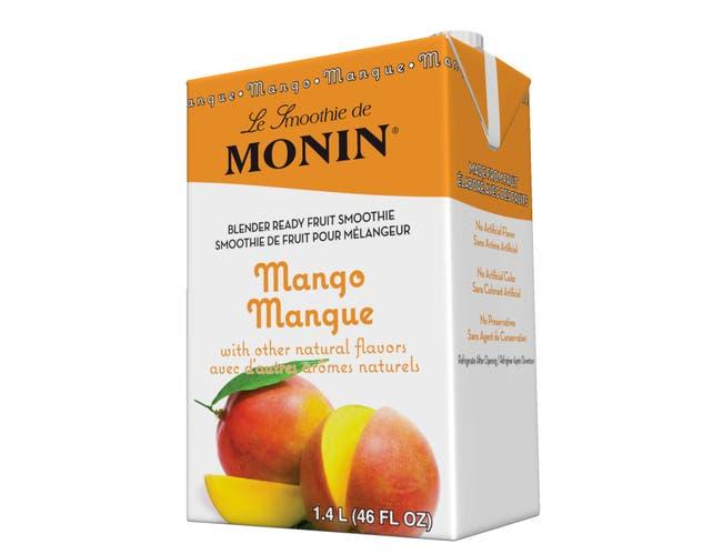 Monin Blender Ready Mango Fruit Smoothie Mix, 46 Ounce -- 6 per case.