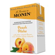 Monin Blender Ready Peach Fruit Smoothie Mix, 46 Ounce -- 6 per case.