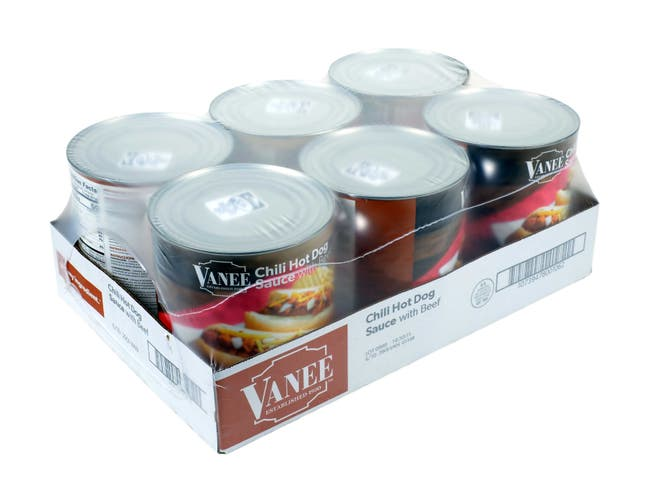 Vanee Chili Hot Dog Sauce - 110 oz. can, 6 per case