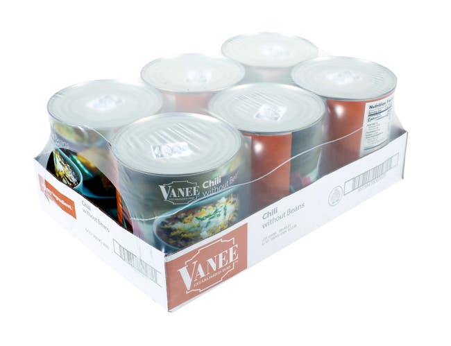 Vanee Chili without Beans - 108 oz. can, 6 per case