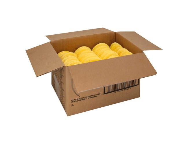 Michael Foods Papettis Plain Round Scrambled Egg Patty, 1.5 Ounce -- 120 per case.
