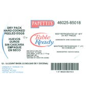 Michael Foods Papettis Table Ready Hard Cooked Egg - 12 per bag -- 12 bags per case.