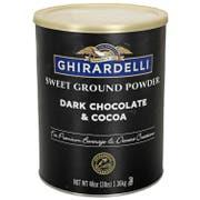 Ghirardelli Dark Chocolate and Cocoa Sweet Ground Powder, 3 Pound Bag -- 6 per case