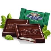 Ghirardelli Dark Chocolate Mint Squares, 0.53 Ounce -- 430 per case