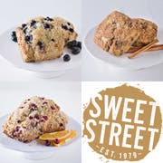 Sweet Street Thaw and Serve Artisan Scone - Variety Pack, 3.5 Ounce -- 48 per case.