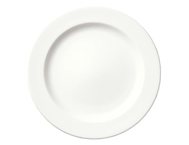 Syracuse China Slenda Royal Rideau Oval Long Plate, 8 inch -- 12 per case.